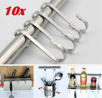 10x Edelstahl S Haken Küchenhaken Fleischerhaken Metallhaken Aufhänger Handtuch
