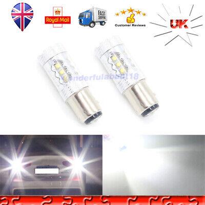 2x High Power Red Max 1156 BA15S LED Bulbs 80W For Car DRL Turn Signal Light Backup Reverse Light Brake Stop Light