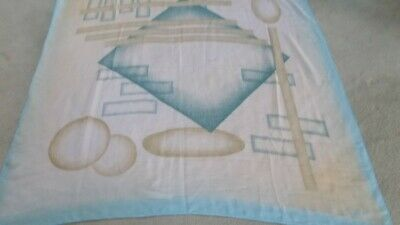 Ex Grande Sciarpa Di Seta Al Wajaha Dubai In Buonissima Condizione. Blu Crema Giallo-mostra Il Titolo Originale Colori Fantasiosi