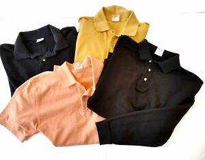 Brooks-Brothers-346-Mens-Medium-Cotton-Polo-Shirt-Lot-of-4-Black-yellow-coral
