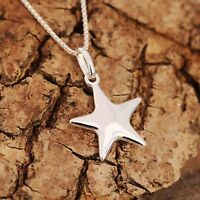 925 Sterling Silver Necklace And Wishing Star Pendant Lucky Gift With Box
