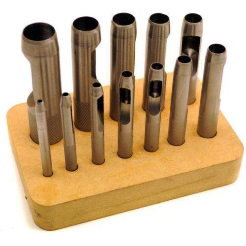 Junta//Hueco Acero Punch Set 3-19 mm Para Cuero Con Base De Madera TE109/_TE188