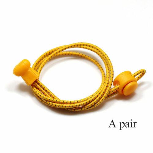 Details about  /Women Men Sports Shoes Laces Reflective Lazy Tie-free Elastic Shoelaces Unisex