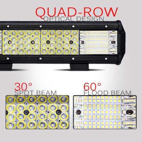"""12/"""" 1128W QUAD-ROW CREE LED Light Bar Flood Spot Offroad Pickup Truck 4WD 15//20/"""""""