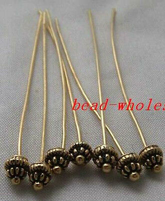20pcs Antique Silver Golden Tone Long Head Pins Finding U Pick Color