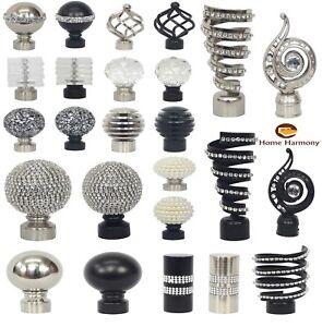 HOME-Harmony-Palo-di-metallo-per-Tende-Confezione-da-2-Ornamenti-finisce-per-pali-diametro-28-mm