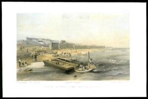 1855-Antique-Print-CRIMEA-WAR-Yenikale-Fortress-Sea-of-Azof-Military-06