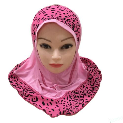 One Piece Head Scarf Hijab Hat Prayer Kids Girls Muslim Islamic Head Wrap Shawls