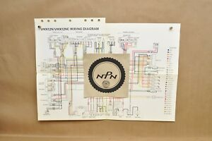 details about vtg 1985 yamaha v max 1200 vmx12 n vmx12 nc color schematic wire wiring diagram 1985 yamaha phazer wiring diagram 1985 yamaha wiring diagram #9