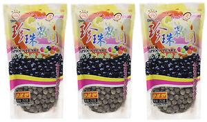 3-paquetes-de-Wufuyuan-Negro-Tapioca-Perla-250g-para-Burbuja-te-Bebida-Boba