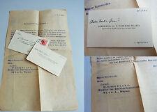 VINZENZ BLAHA / Schottengymnasium: Visitenkarte mit Widmung 1932 & Brief an ihn