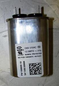 Lennox 83w76 100600 10 oval motor run capacitor 12 5 uf for 370 volt 10 mfd motor run oval capacitor