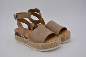 39fd7a23984 Details about Soda Women's Topic Espadrilles Sandal Shoes Natural Nubuck  Size US 6.5 Used