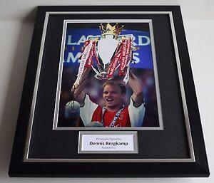 Dennis Bergkamp SIGNED FRAMED Photo Autograph 16x12 display Arsenal Football COA - Warrington, United Kingdom - Dennis Bergkamp SIGNED FRAMED Photo Autograph 16x12 display Arsenal Football COA - Warrington, United Kingdom