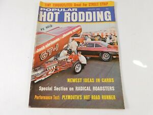 Vintage Original January 1968 Popular Hot Rodding Magazine Custom Car Mods