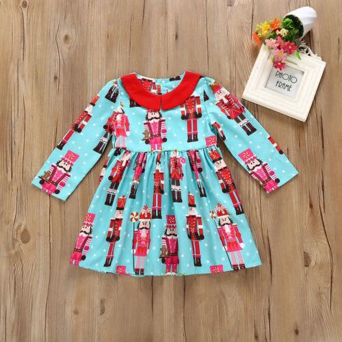 Details about  /NWT Christmas Nutcracker Girls Long Sleeve Blue Dress 2T 3T 4T 5T