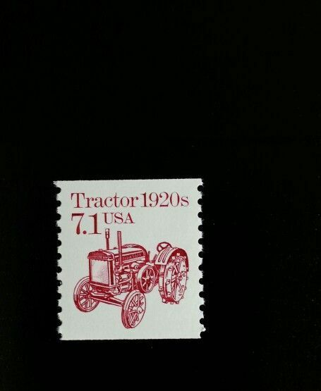 1987 7.1c Tractor, Coil Scott 2127 Mint F/VF NH