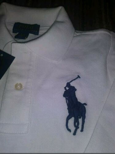 NWT POLO RALPH LAUREN BOYS TODDLER WHITE BIG PONY LONG SLEEVE RUGBY SHIRT