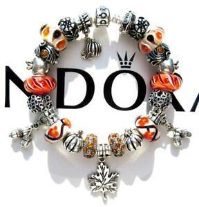 Authentic Pandora Silver Charm Bracelet With Charms Autumn Harvest Ee91 Ebay