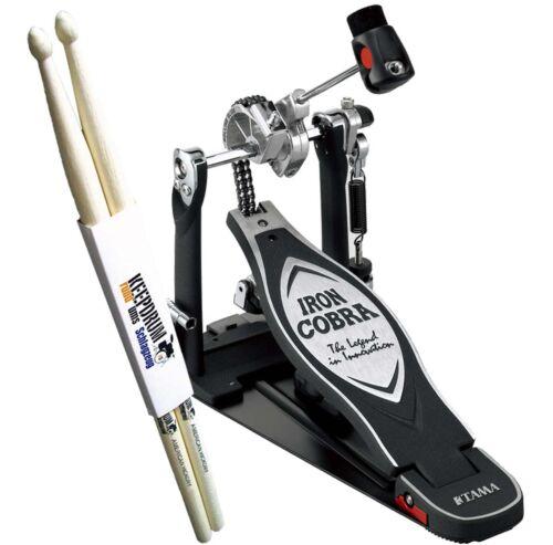Tama Iron Cobra HP900RN Rolling Glide Fußmaschine keepdrum Drumsticks