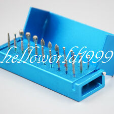 30pc Dental Diamond Burs Drill Disinfection Block High Speed Handpieces Holder