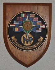 SHAPE International Police regimental mess plaque shield crest NATO cold war