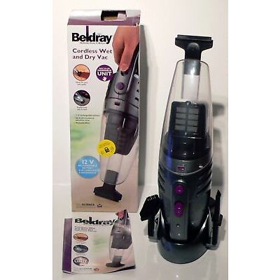 QUALITY BELDRAY CORDLESS WET AND DRY VAC RECHARGEABLE BATTERY HANDHELD UNIT 12V