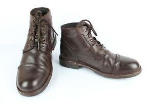 KICKERS-Boots-a-Lacets-Cuir-marron-T-41-Excellent-etat