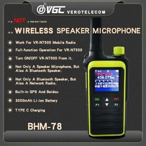 BHM-78 Fist Mic / Altop. Bluetooth With Display For Vgc Vr-N 7500 210004