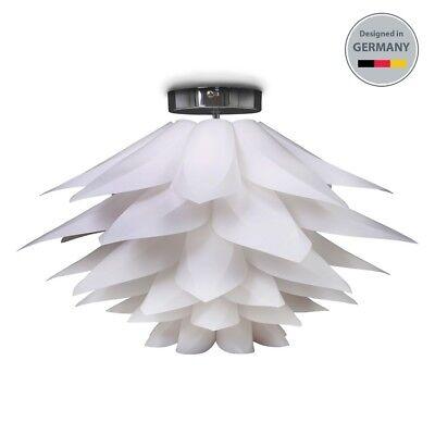 Deckenlampe LED Wohnzimmer Design-Leuchte Decke 1-flammig e27 Halogen 230V chrom