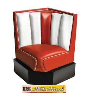 Das Bild Wird Geladen HW 60 60 Red American Dinerbank Eckbank Diner