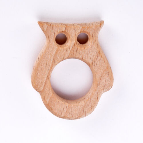Lovely Eco-Friendly Natural Wooden Safe Baby Teether Teething Toy Shower Gift