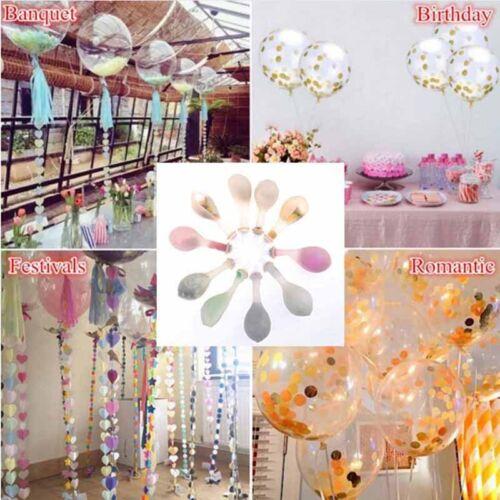 12inch 10color foil confetti latex balloons helium wedding birthday part decorJH