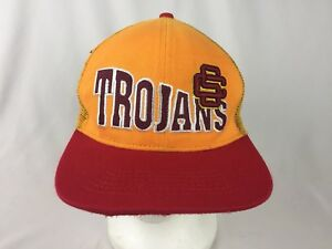 701feb74e744dc ... norway image is loading ncaa vintage usc trojans hat cap snapback  maroon 0b886 a8815