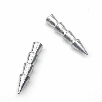 10pcs//lot Insert Weight Tackle Carp Fishing Worm Lead Nail Sinker AccessoriesCTS