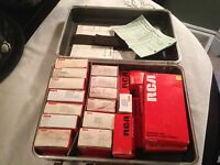 Lot Of 21 Vintage Color Tv Modules In Caddy/case In Box