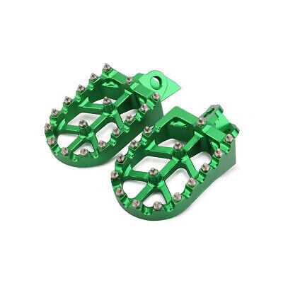 2001-2020 -GRN217 NEW  BILLET CNC WIDE FAT FOOT PEGS KAWASAKI KX65 KX85 KX100
