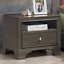 brown vintage nightstand sofa side end table with usb port