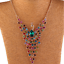 Colorful-Rhinestone-Crystal-Peacock-Choker-Statement-Bib-Necklace-Charm-Jewelry thumbnail 3