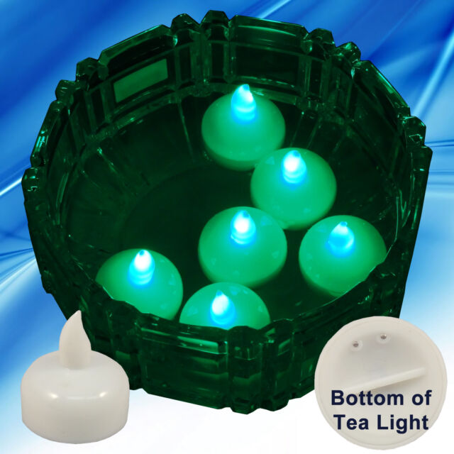 Frequently Bought Together 36 Flameless Floating Led Tealight Candle Battery Operated Green