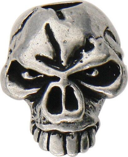 "Schmuckatelli Co SMUKEP Emerson Skull Bead Pewter 3//8/"" x 1//2/"" x 1//2/"" Sculpted p"