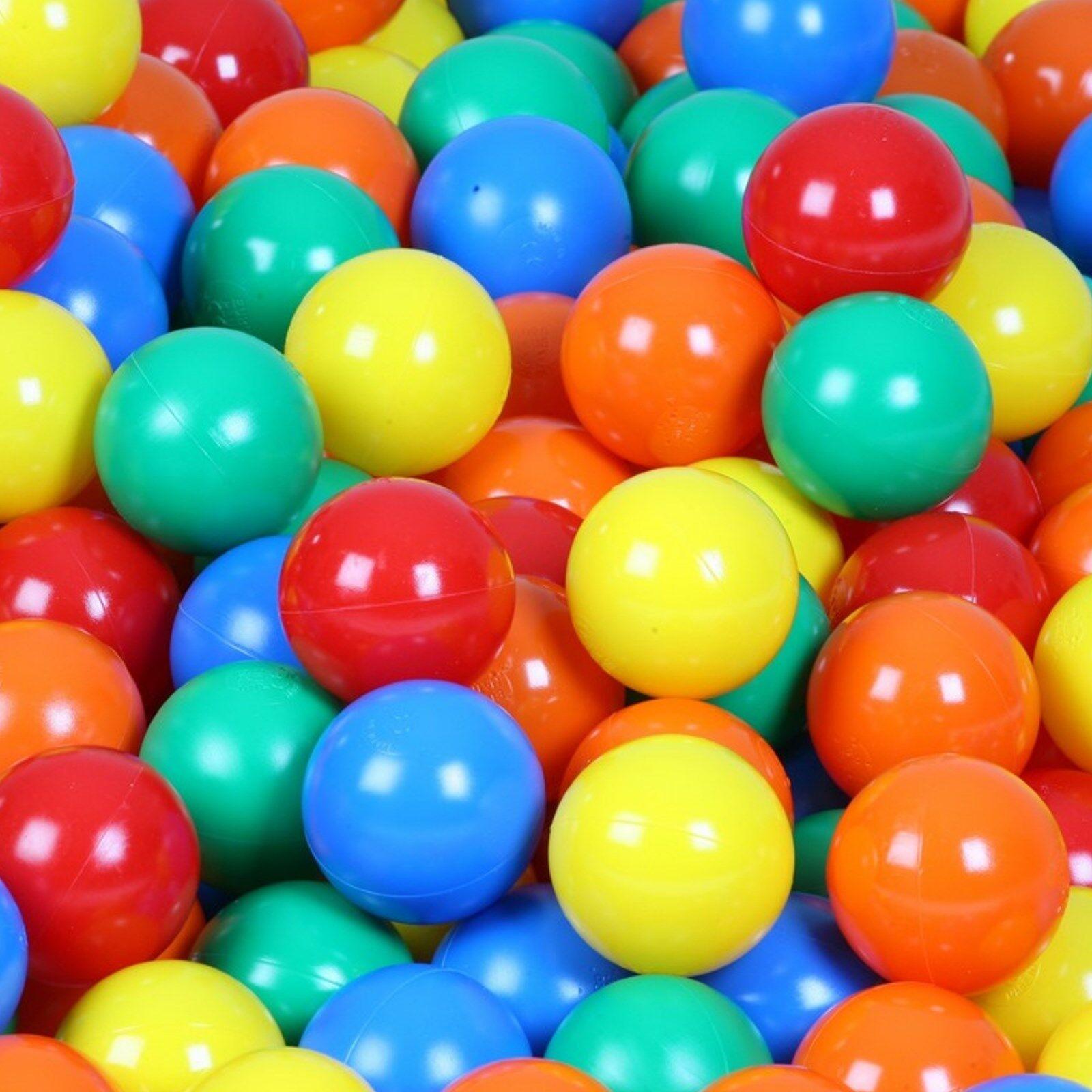 Bälle für Bällebad 60mm bunte Spielbälle Baby Kind Spielbälle Kugelbad Euromatic