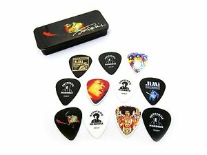 jimi hendrix guitar picks band of gypsies collectible pick tin with 12 picks 710137035782 ebay. Black Bedroom Furniture Sets. Home Design Ideas
