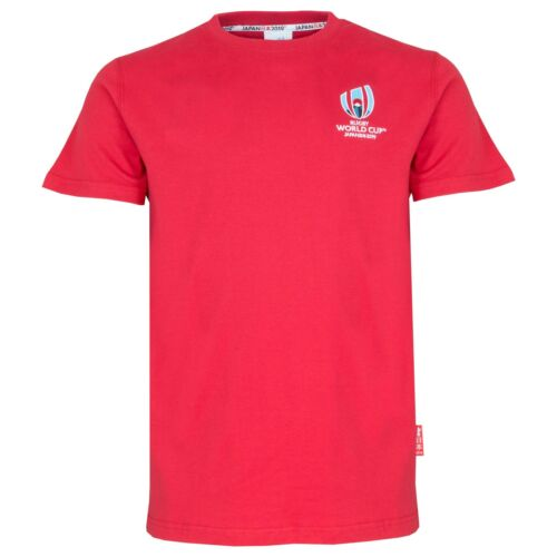 Rugby World Cup 2019 Mens Small Logo T-ShirtRed