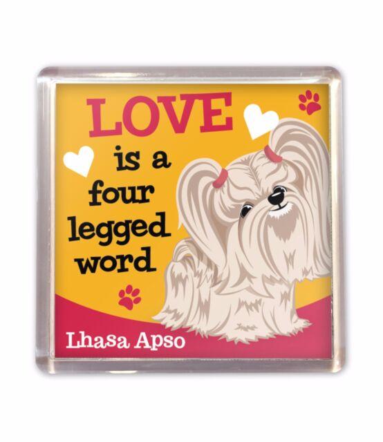Lhasa Apso Love is Cute Fridge Magnet Dog Lovers Gift Stocking Filler