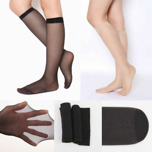 1//10Pair Women Nylon Medium Stockings Thigh-Highs Over Knee Elastic Long Socks