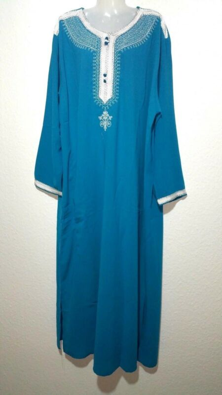 Abaya Maxikleid Djellaba Arabisches Kleid Jellabiya Jalabiya Abendkleid Gr. Xl