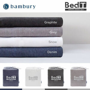Bambury-BedT-Cotton-Blend-Jersey-T-Shirt-Sheet-Set-King-Queen-Double-King-Single