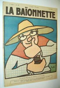 LA-BAIONNETTE-N-196-1919-GUS-BOFA-CAPY-ARNAC-PUJOL-ROUFFE-SATIRE-HUMOUR-RIRE