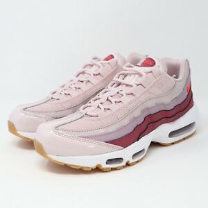 Details about Nike Air Max 95 Women's Sneakers 307960 603 Barely Rose Hot Punch Shoes